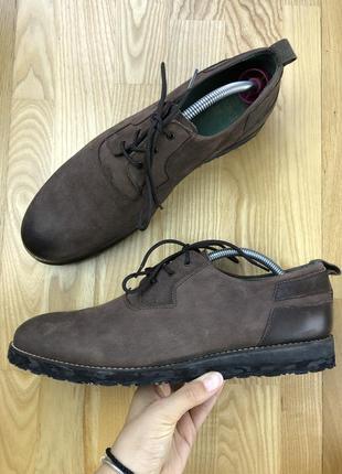 Кожаные туфли exceed ecco clarks