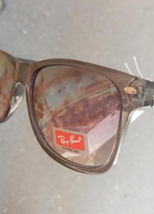 Стильные очки ray ban вайфареры италия распродажа серебристые унисекс