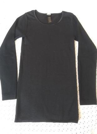 Термореглан чорний реглан шерсть лонгслив термо термобілизна шерстяна термобелье
