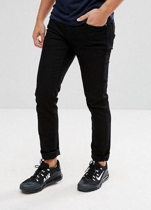 Черные джинсы pull&bear slim comfort