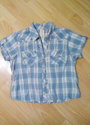 Клетчатая рубашка, 100% хлопок