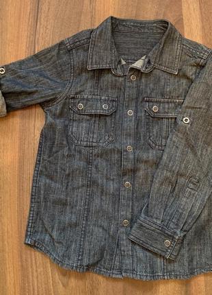 Рубашка джинсовая mothercare