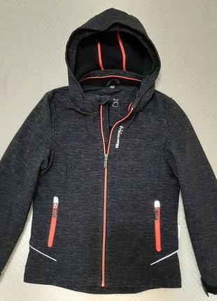 Фирменная куртка деми софтшелл northville c&a (германия) р.140-146 серый меланж