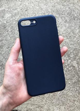 Чохол на айфон 7/8+, iphone 7/8+ case, синій чехол на айфон