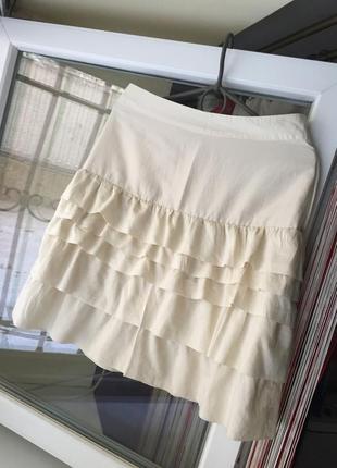 Романтична юбка шовк коттон