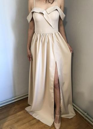 Вечірня сукня з боковим розрізом/ вечернее платье с боковым разрезом