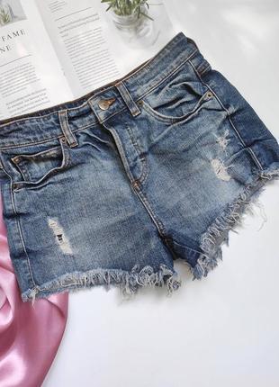 Ідеальні джинсові шортики guess з потертостями  ❤
