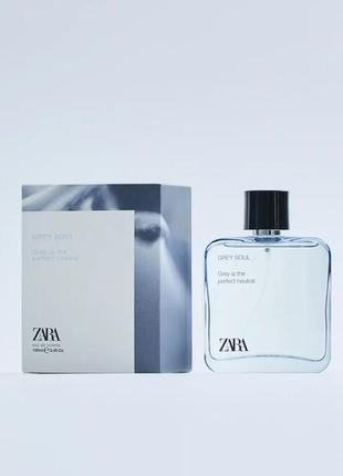 Zara grey soul 100ml мужская туалетная вода