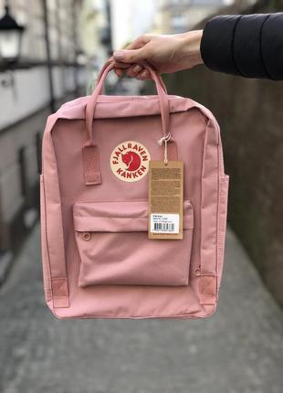 Розовый женский рюкзак fjallraven kanken/ школьный портфель канкен3 фото