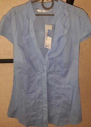 Голубая блузка для офиса, школы