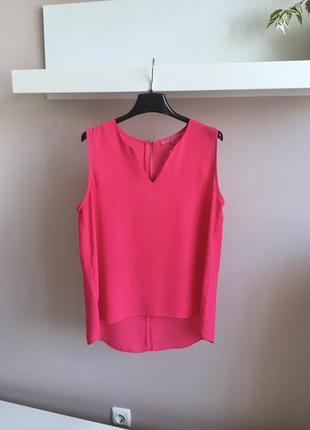 Цикламеновая шифоновая блуза