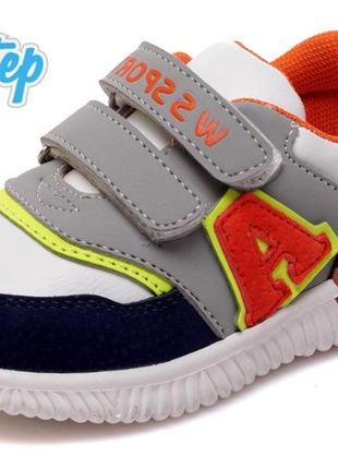 Кроссовки для мальчика на липучках супинатором кросівки р.21-26 наложенный платеж