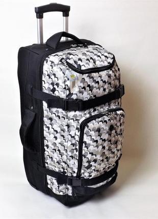 Вместительная дорожная сумка на колесах чемоданного типа средняя 60 литров.
