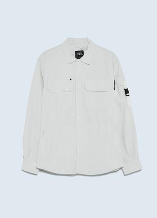 Верхня сорочка з технічної тканини з кишенями zara