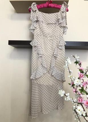 Стильное очень нежное нарядное шифоновое  платье