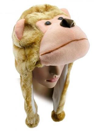 Маскарадная шапка головной убор обезьяна мавпа