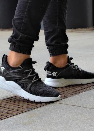 Чёрные мужские кроссовки bayota топ-качества!