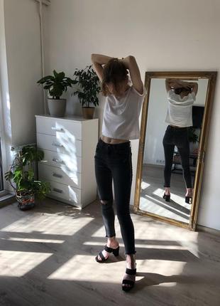 Графитовые джинсы, джинсы с лампасами, змеиный принт, питон, скинни, укороченные