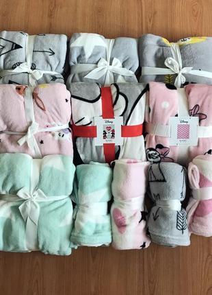 Плед детский одеяло 70 см / 100 см и  130 см / 160 см