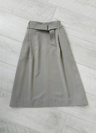 Бежевая миди юбка с поясом модал weber