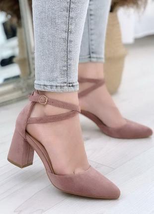 Туфли пудра