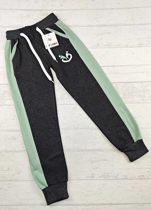 Спортивные штаны на девочку р.128-146 см. турция.