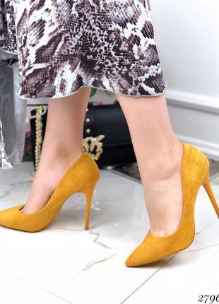 Туфли лодочки желтые горчица