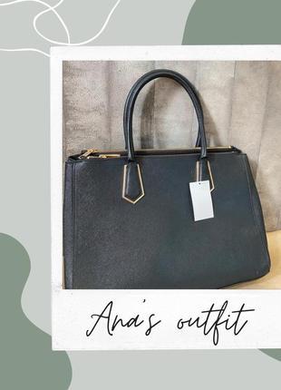 Чёрная сумка h&m + бесплатная justin доставка