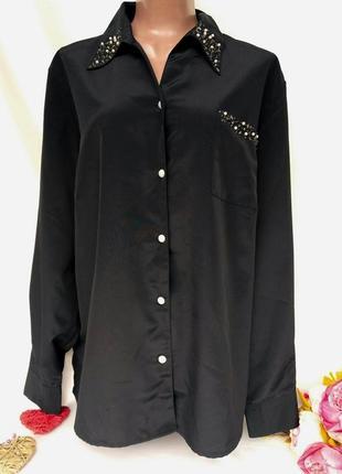 Шикарная рубашка с жемчугом размер 26 (56-60)