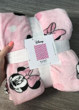 Детский плед одеяло покрывало дисней с микки розовый 130/160