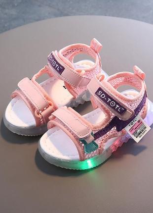 Очень классные сандали с подсветкой