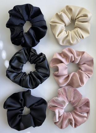 Набор 6 резинок  black-rose