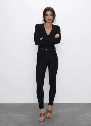 Идеальные черные джинсы высокая посадка размер с cheap monday оригинал