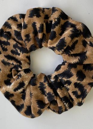 Резинка для волос леопард рыжий