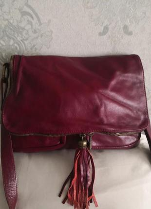 Шикарная большая кожаная сумка borse in pelle, италия. 👜👜👜🐥👑🔥
