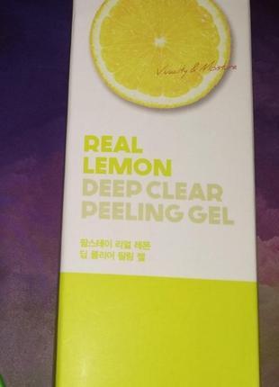 Пилинг-гель с экстрактом лимона farm stay real deep clear peeling gel