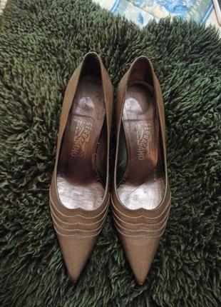 Туфли натуральная кожа salvatore ferragamo оригинал