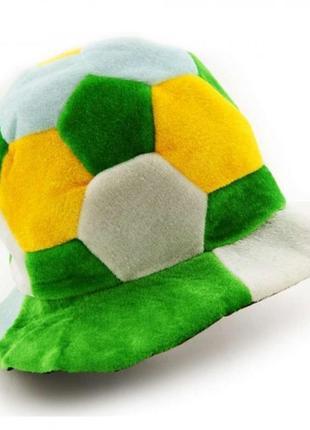 Шапка футбольного фаната желтый белый зеленый