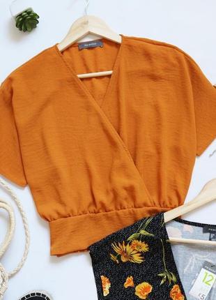 Стильная блузка на запах с резинкой на талии primark