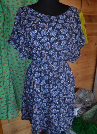Стильное натуральное платье в мелкий цветочек от pimkie!