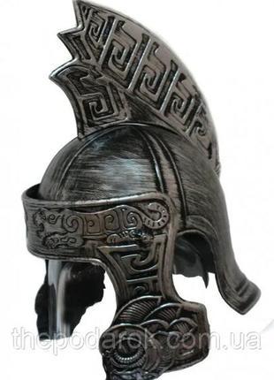 Шлем ахиллеса пластиковый серебряный маскарадный