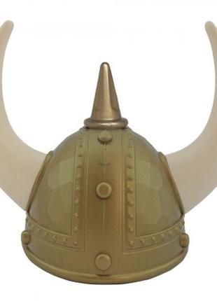 Шлем викинга маскарадный пластиковый