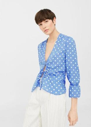 Рубашка с принтом в горошек