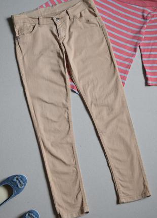 Бежевые джинсы скинни denim