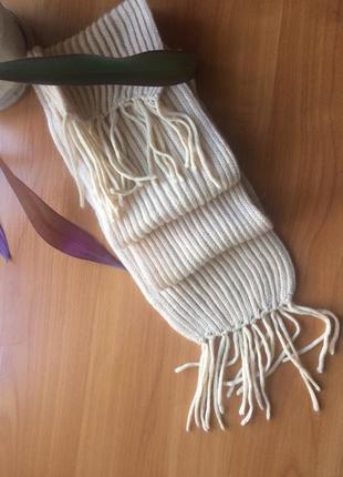 Зимний теплый шарф шерсть