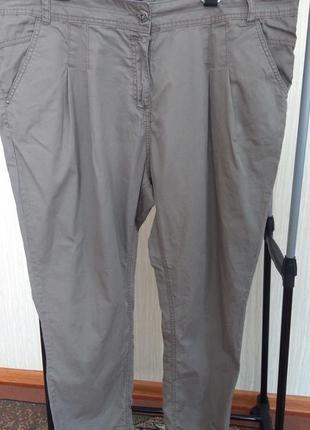 Фірмові звужені штани котонові великого розміру