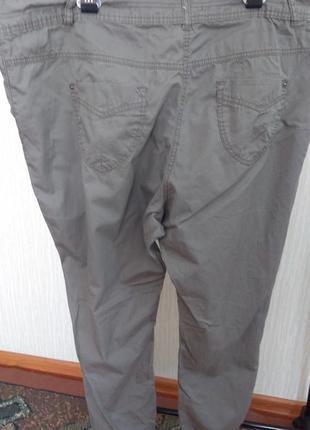 Фірмові звужені штани котонові великого розміру2 фото