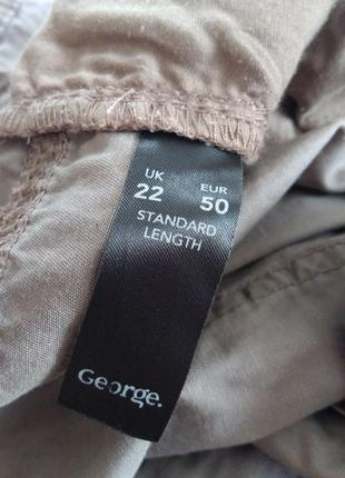 Фірмові звужені штани котонові великого розміру4 фото