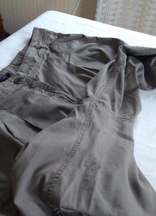 Фірмові звужені штани котонові великого розміру9 фото