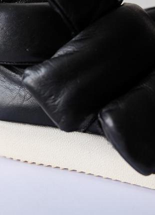 Кожаные кеды {ботинки} на липучке на осень-зиму